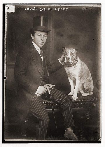 count de beaufort and dog about 1910-15 (photo from http://www.flickr.com/photos/8725928@N02/3298139411/in/pool-92873396@N00)