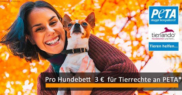 Neuer tierlando-Shop online: Zum Start Hundebett kaufen und automatisch PETA unterstützen!