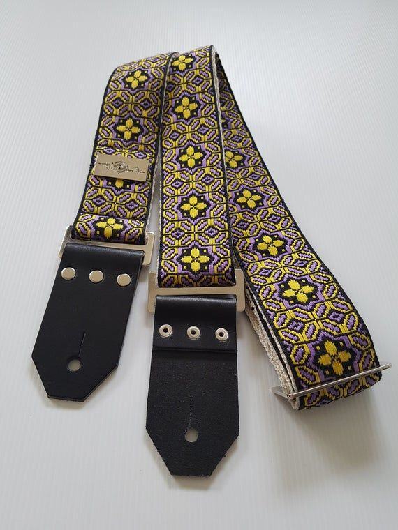 Guitar Strap Mama S Trippin Vintage Style Bohemian Hootenanny Strap On Eco Friendly Hemp Webbing For Acoustic Electric Or Bass Guitars In 2020 Guitar Strap Guitar Strap Vintage Vintage Fashion