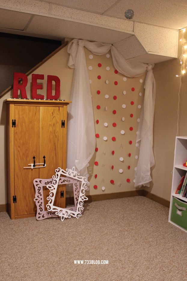 Taylor Swift Birthday Party - RED letters made from FloraCraft Foam