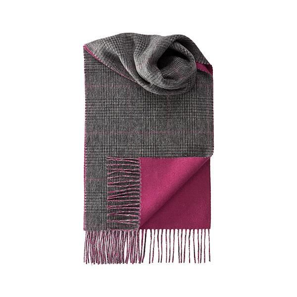 Cashmere Scarf, double-sided in Fuchsia