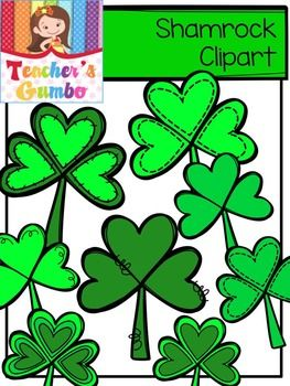 Add+some+luck+to+your+resources+with+these+shamrocks.+This+set+includes+several+designs+of+shamrocks.+Includes+25+images+in+color+and+black+and+white.All+images+are+the+creative+property+of+Teacher's++Gumbo.+Images+may+not+be+re-sold+as+clipart.+Please+read+the+terms+of+use+when+downloading.May+be+used+personally+or+commercially.Love+from+the+Bayou,Jenn