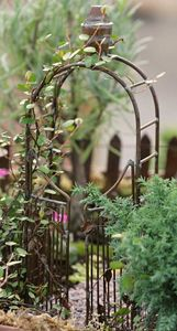 Fairy Garden Accessories, Rustic Garden Arbor and Gate