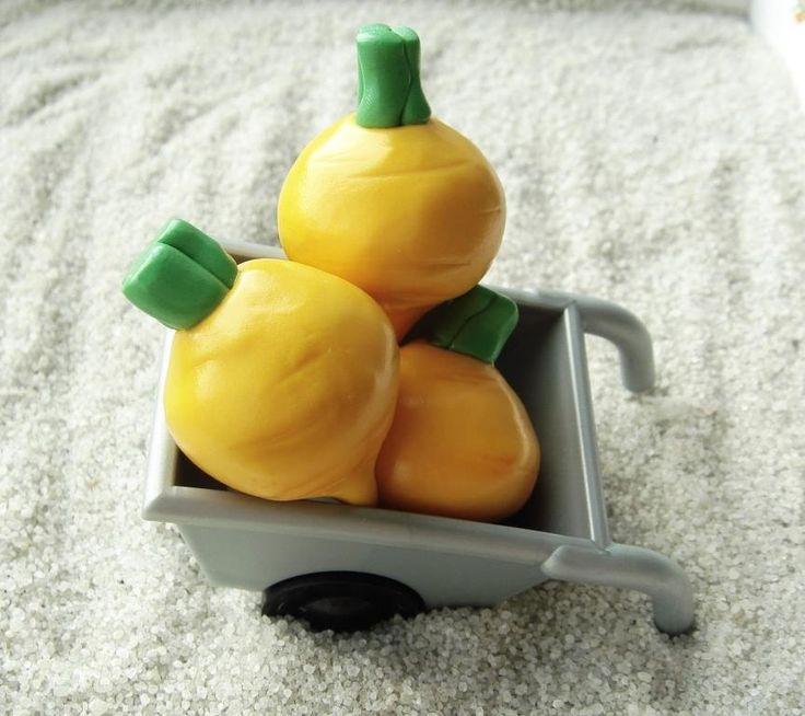 Репа из полимерной глины для игр на развитие мелкой моторики у детей/ Turnips from polymer clay for  toddler activity