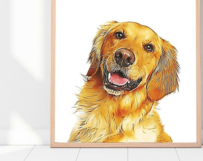 Digital Pet Portrait Custom Mother S Day Gift Pet Dog Cat Oil Painting Portrait From Photo In 2020 Animal Paintings Pet Portraits Dog Art