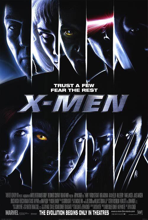 X-Men (2000) Bryan Singer con Patrick Stewart, Hugh Jackman, Ian McKellen, Anna Paquin, Famke Janssen, Bruce Davison, James Marsden, Halle Berry, Rebecca Romijn, Ray Park y Tyler Mane.