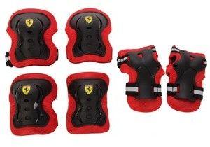 Ferrari 6-Piece Elbow Pads, Knee Pads & Wrist Pads Set