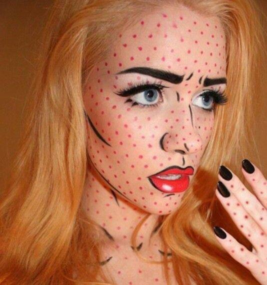 Halloween makeup http://likes.com/eyecandy/3d-halloween-makeup-looks?pid=122260&page=3&v=eyJjbGlja19pZCI6IDIyNzE0MTE1NDAsICJwb3N0X2lkIjogMjc3Mjc0MDEsICJjIjogIm90aGVyX21vYmlsZSJ9