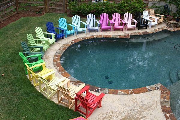adirondack chairs on beach bright colored plastic adirondack chairs