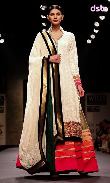 Delhi Style Blog: Manish Malhotra SS 2013 WIFW Mijwan Sonnets in Fabric
