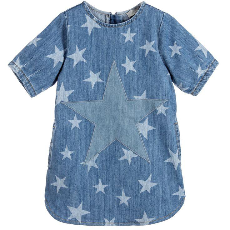 Stella McCartney Kids Blue Denim Organic Cotton 'Bess' Dress at Childrensalon.com