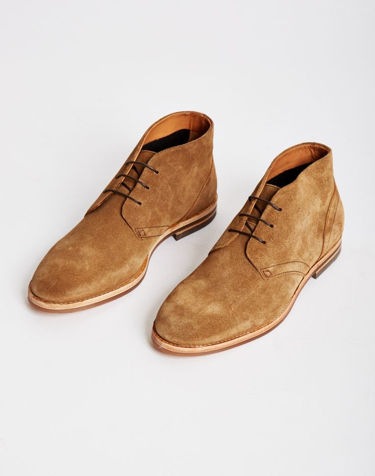 Hudson Houghton Suede Chukka Boot Brown Lace Up With A Clic Fit And Heavy