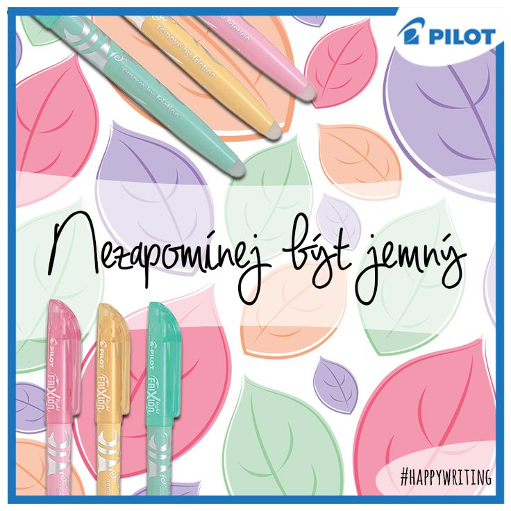 Seznamte se se svým novým jemným parťákem - přepisovatelným zvýrazňovačem #Pilot #Frixion #Light #Soft :)  #pilotpencz #happywriting