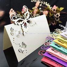 10 Шт. Романтический Белый Резной Бабочка Настольный Знак Имя Место Карты для Свадьбы День Рождения Банкет Украшения(China (Mainland))