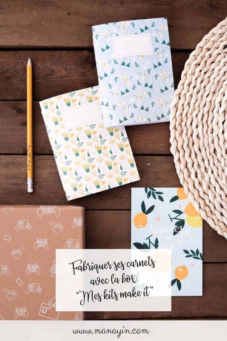 Test de la box Mes kits make it : des carnets à fabriquer