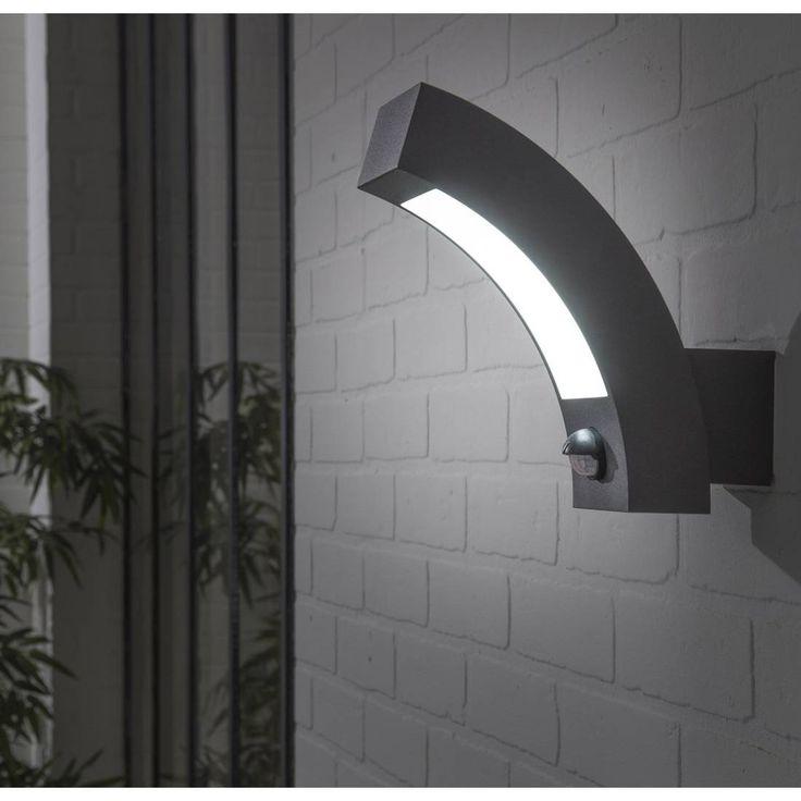 KENDAL - Applique d'extérieur LED avec détecteur Anthracite H21cm Inspire