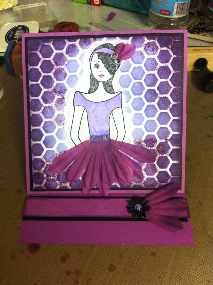 'Annie' Easel Card - created with all Kaszazz products by Raelene Refalo