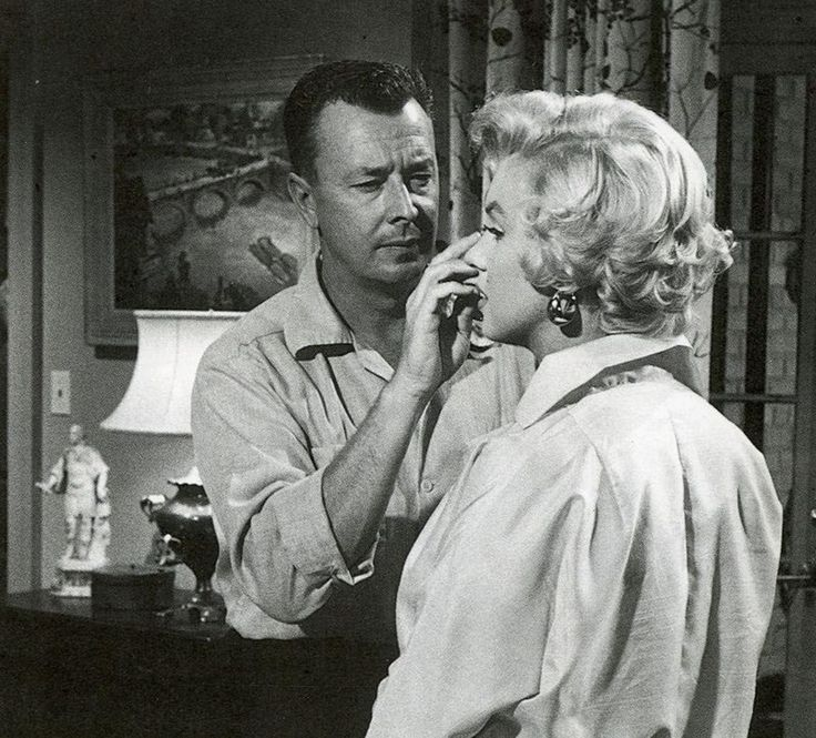 Marilyn Monroe and Allan 'Whitey' Snyder on the set of  The Seven Year Itch, 1955.