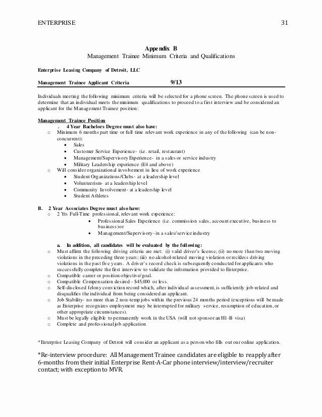 Enterprise Management Trainee Resume 2 Beautiful Enterprise In 2020 Enterprise Rent A Car Enterprise Executive Resume Template