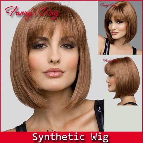 Free shipping High Quality Heat Resistant Synthetic Bobo Blonde Short Wigs for Women,100% Kanekalon New Style For Lady's.-in Synthetic Wigs ...