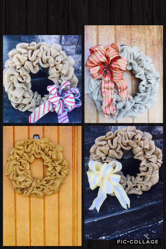 Interchangeable Wreath All Season Wreath Rustic Burlap