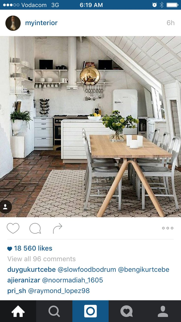 Love the kitchen table on a white palette