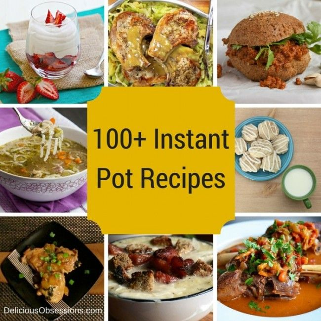 The Instant Pot is all the rage right now and makes dishes so easy to make. Get over 100 delicious recipes from soups and main dishes to sides and desserts.
