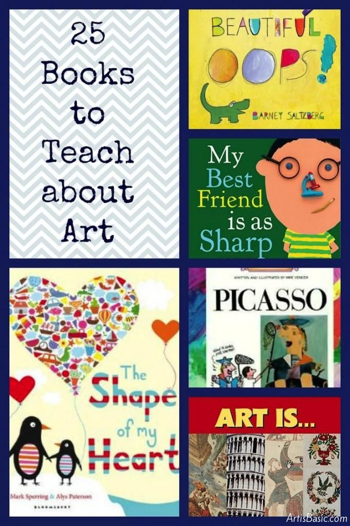 25 books to teach about art.