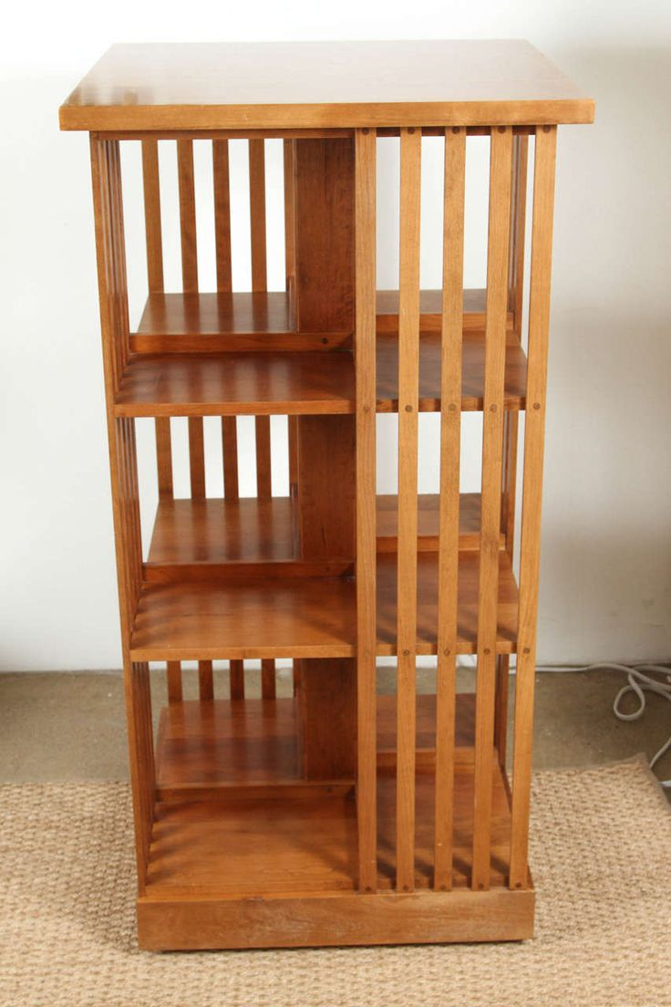 Signed Stickley Revolving Bookcase image 2