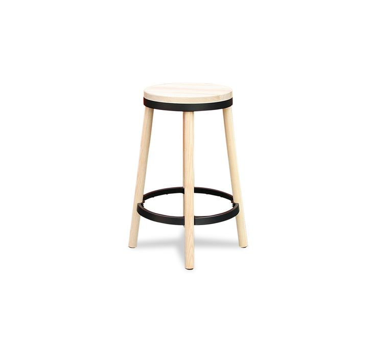 67cm High Dark Ash wood seat and legs Replica Simple Self Assembly