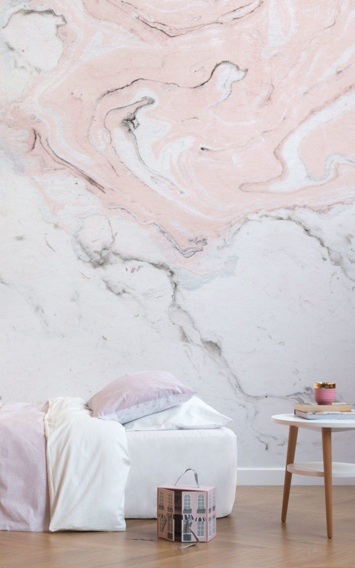Pink And White Marble Wallpaper Muralswallpaper Mural