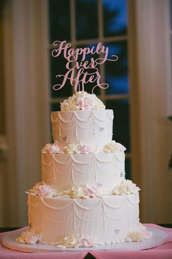 Disney Themed Three Tiered Wedding Cake