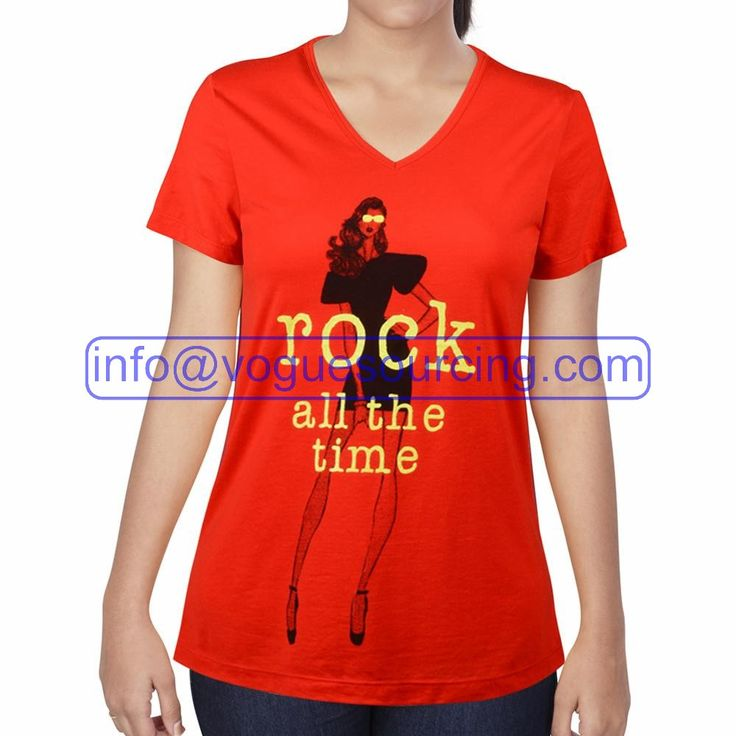 Ladies V Neck T Shirt Manufacturers in Global Vogue Sourcing is  manufactures in India and exports
