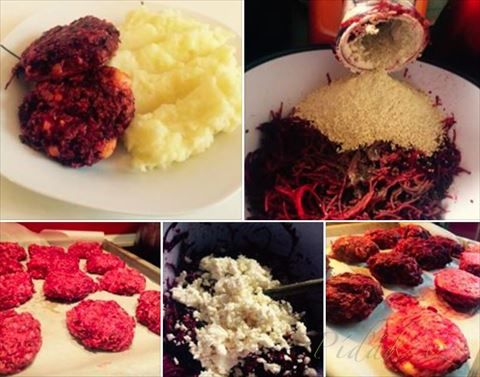 Picture of Recept - Řepanátky by Romča - karbanátky z červené řepy