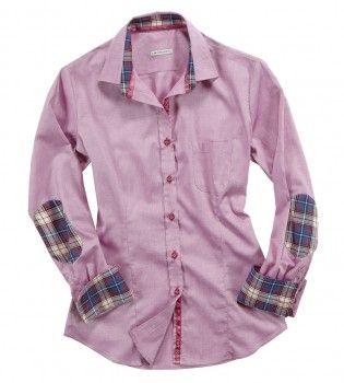 Camicia a righe bianche,blu e rosse, con doppio tessuto dall'effetto jeans sui polsini e sul colletto. Seguici anche su                           www.redisrappresentanze.it