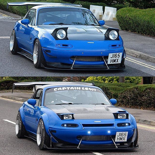 Mazda Miata with Jass Performance Low Profile Headlights