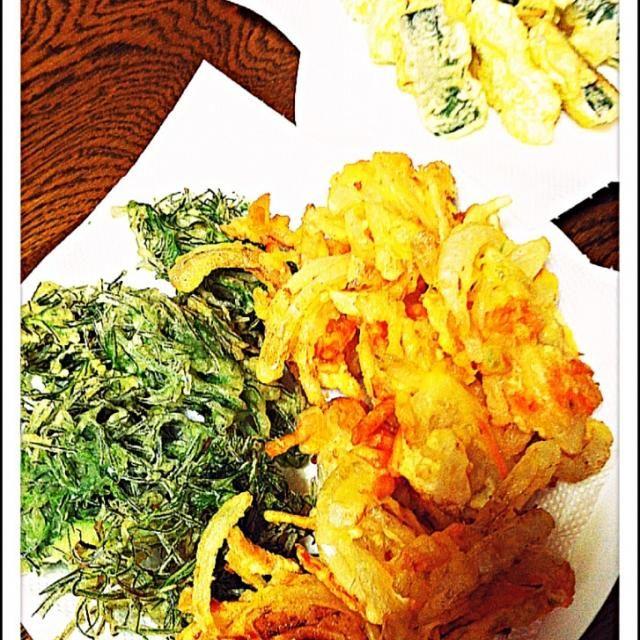 おかひじき  天ぷらも、美味しい! - 104件のもぐもぐ - 野菜の天ぷら    タマネギ人参・おかひじき・ズッキーニ by morinnorin