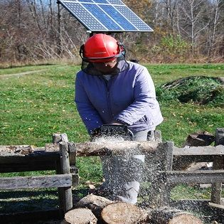 Review of Oregon 40-Volt, Battery-Powered Chainsaw - Homesteading and Livestock - MOTHER EARTH NEWS