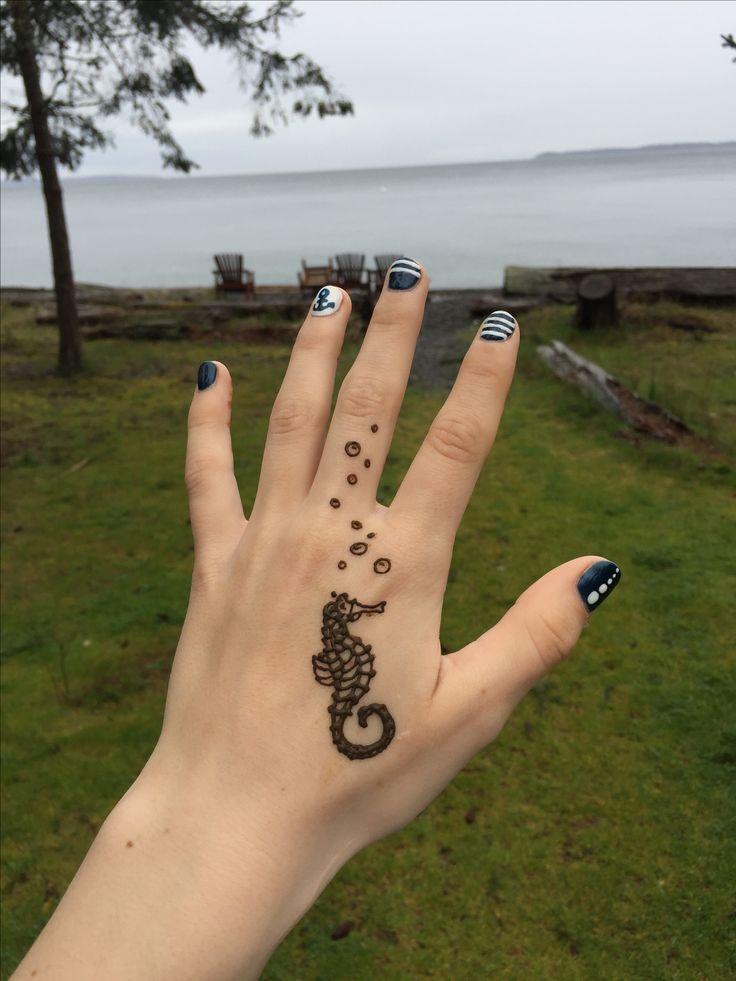 Wrist Henna Tattoo Pinterest Sheridanblasey: Insta>>>sher.henna Seahorse Henna! Pinterest