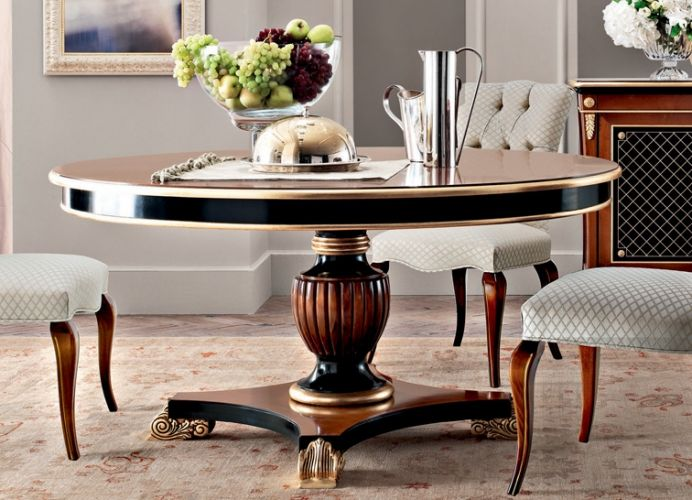 Purple   Le Gemme | Classic Collections Le Fablier | Round Table | Measures  In Cm