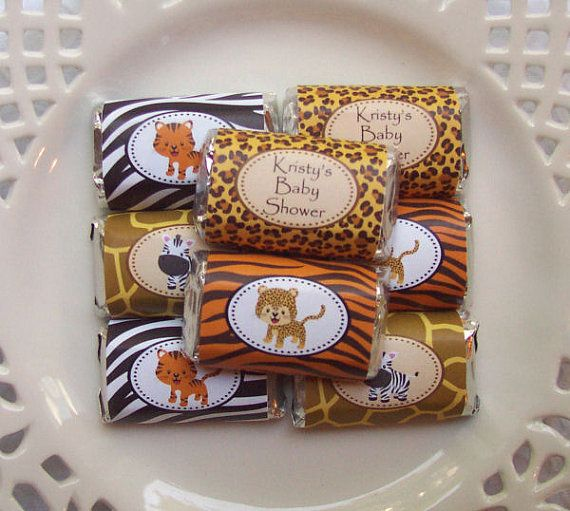 Printable Safari Baby Shower Mini Candy Bar by PinkPosyPaperie, $4.00