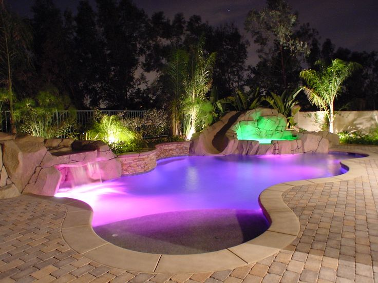Beach entry pools design and music features for your for Pool design with beach entry
