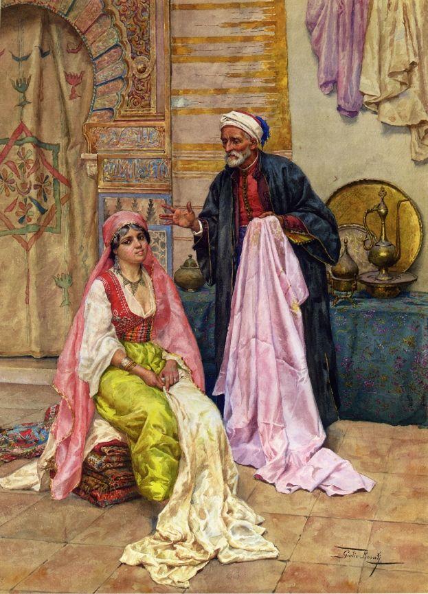 Giulio Rosati (Italian, 1857-1917). Choosing the Finest