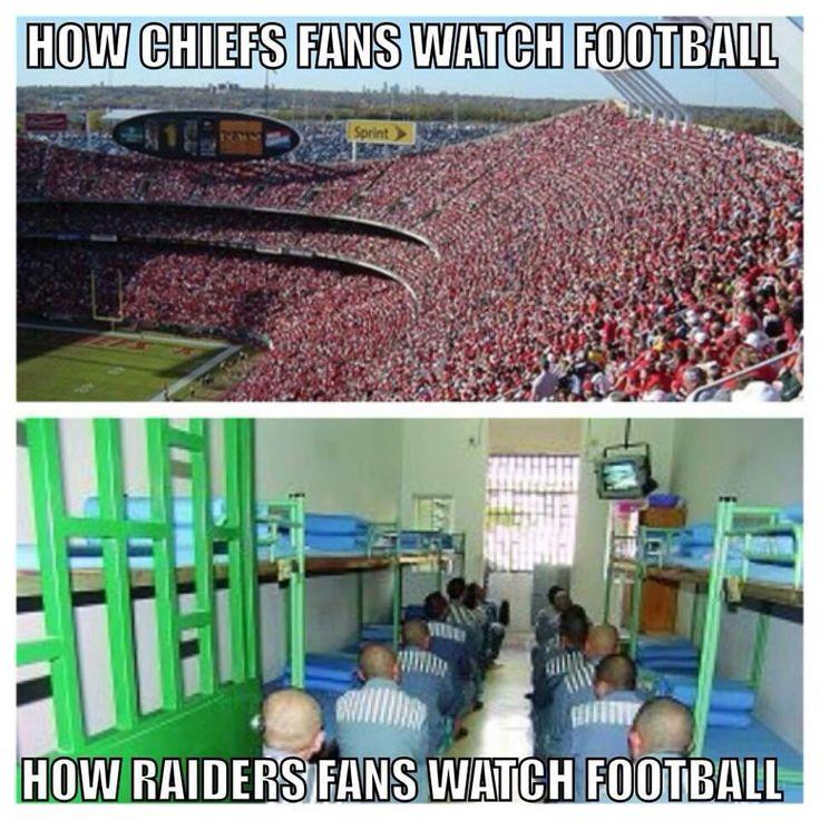 Chiefs fans vs Raiders fans