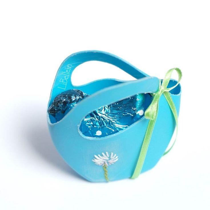 Osterkörbchen aus Duschgelflasche / Easter basket made from shower gel bottle / Upcycling