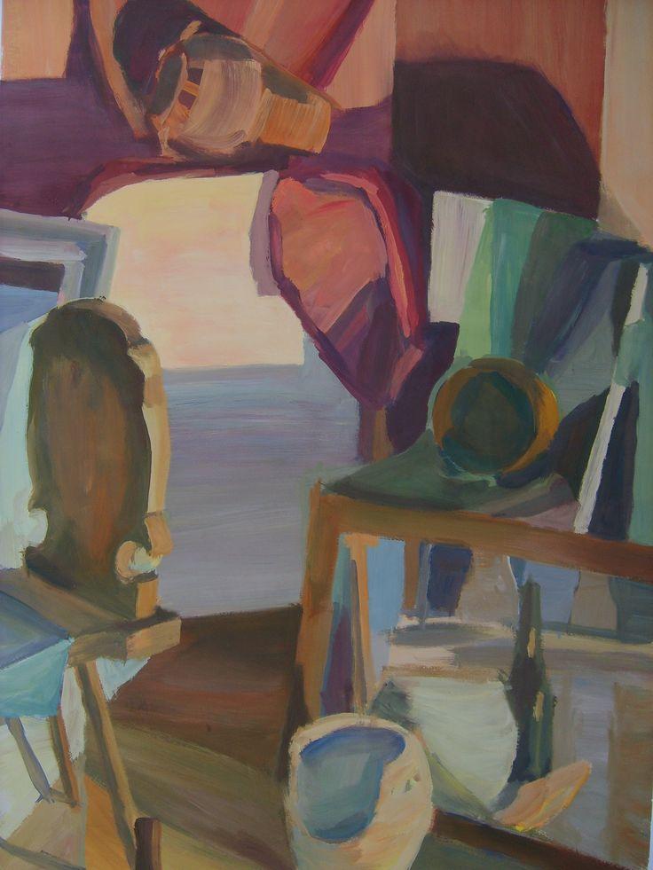 Still life, 70x50 cm, tempera on paper