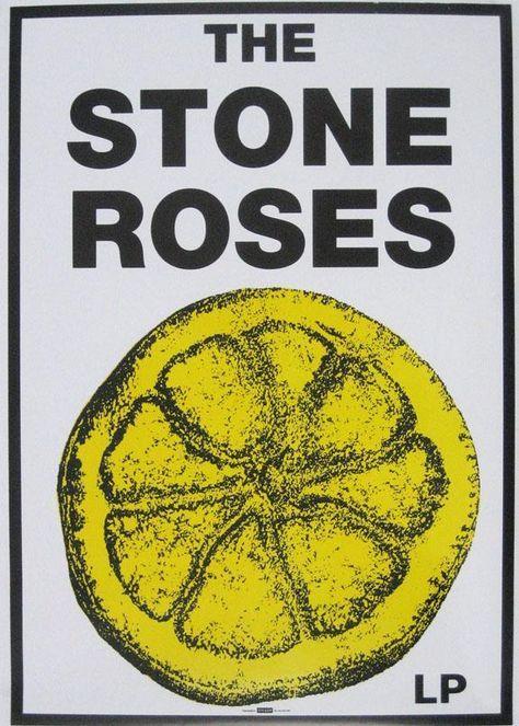 stone roses poster artwork. #music #posterart #stoneroses http://www.pinterest.com/TheHitman14/music-poster-art-+/