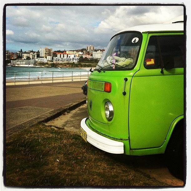 Green, serene kombi scene at #bondi beach
