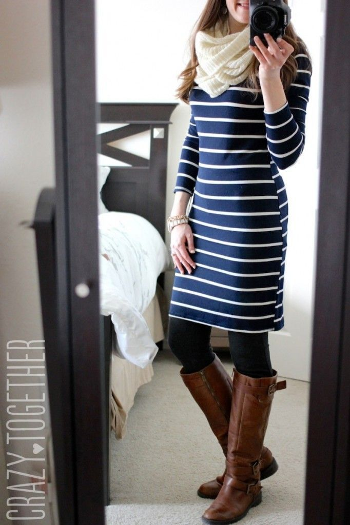 Whitmee Button Neck Striped Shift Dress from Loveapella - February 2015 Stitch Fix Review #stitchfix