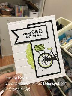 Handmade Cards; Handmade Greeting Cards; Bike Ride: Lift Me Up; Stampin' Up!; Tamara's Paper Trail